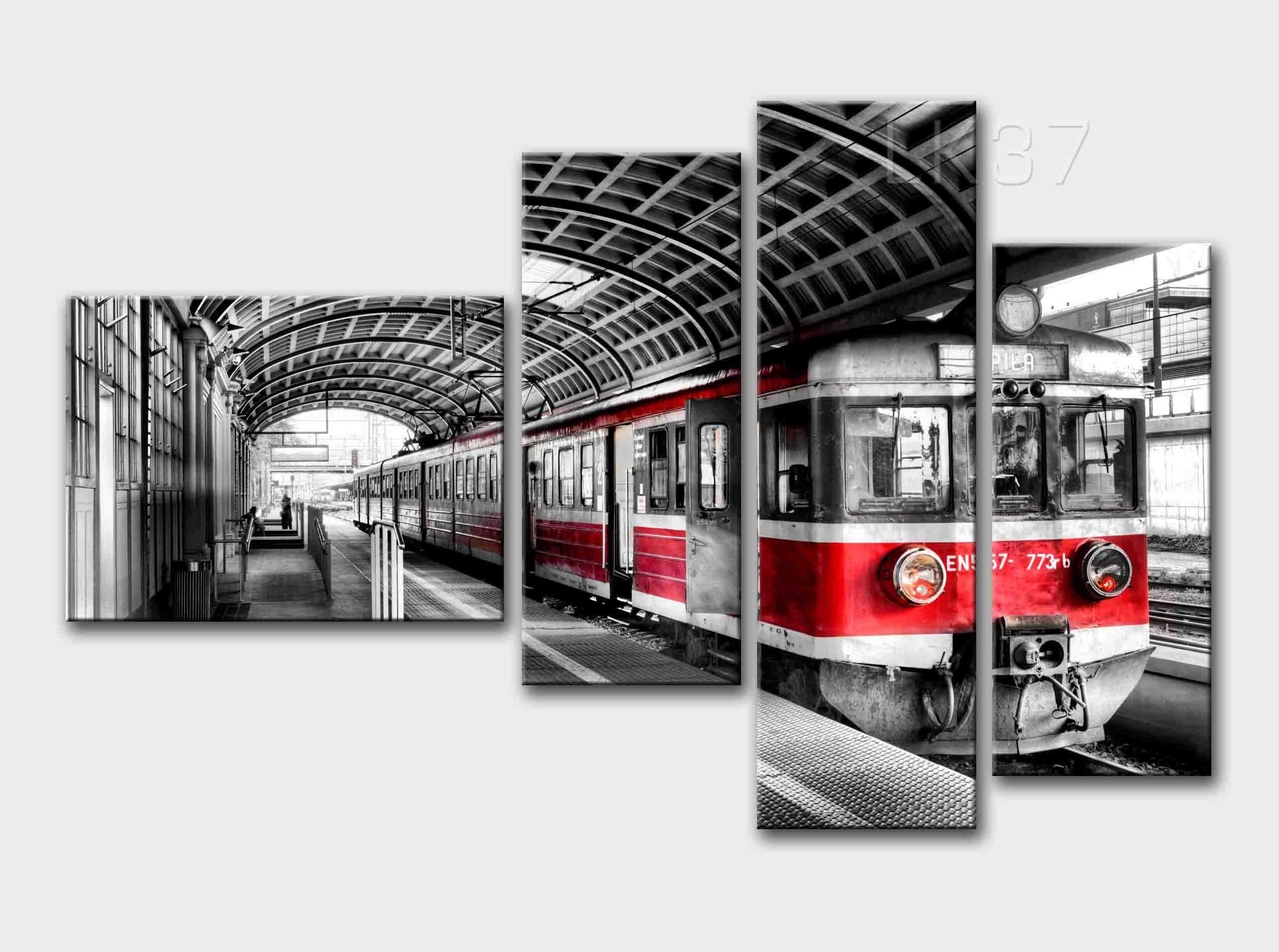 модульная картина поезд